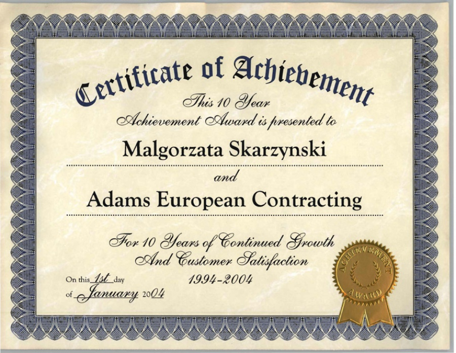 Awards - Adam\'s European Contracting Inc.